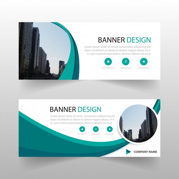 Green Ciircle Abstract Banner Template Design