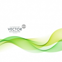 Wavy Shapes On Green Abstract Background