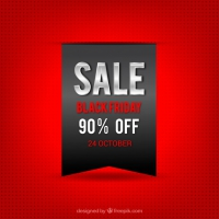 Red Background Of Black Friday