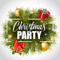 Christmas Party Lettering In Frame
