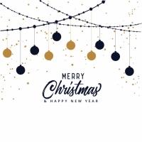 Elegant Merry Christmas Festival Background
