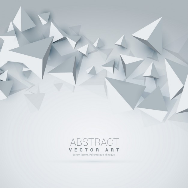 White Background With 3d Polygons