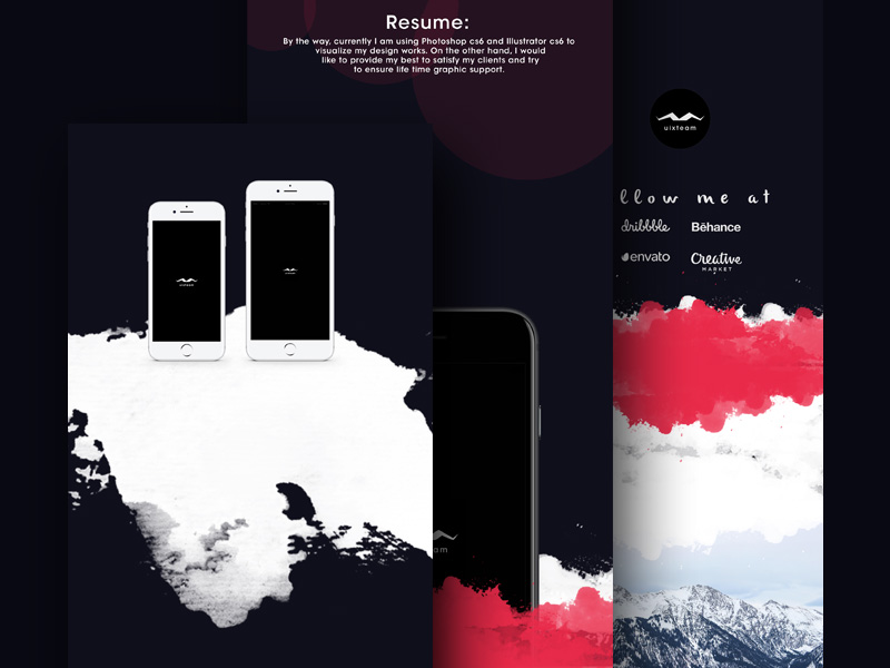 UI/UX Presentation Mockup