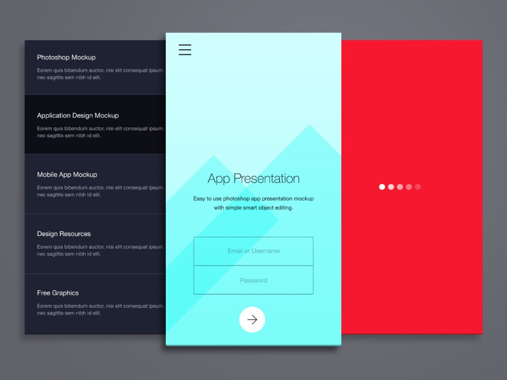 Phone Application Presentation Mockup