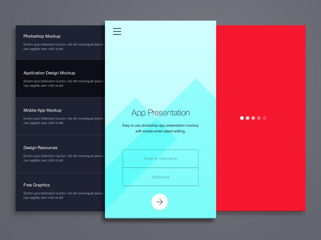Phone Application Presentation Mockup