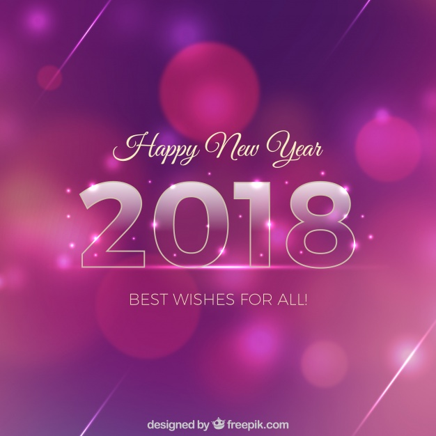 Pink And Purple New Year Background