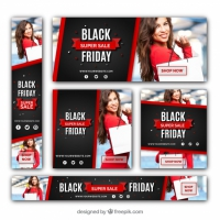 Black Friday Discount Banners Set