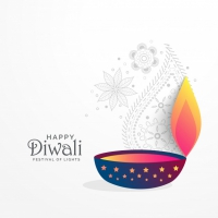 Creative Diwali Festival Greeting Background