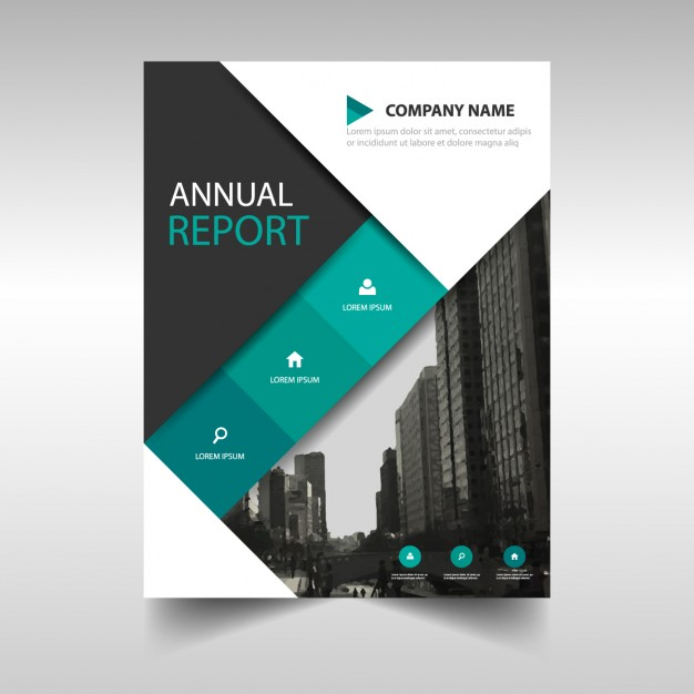 Blue And Black Corporate Brochure