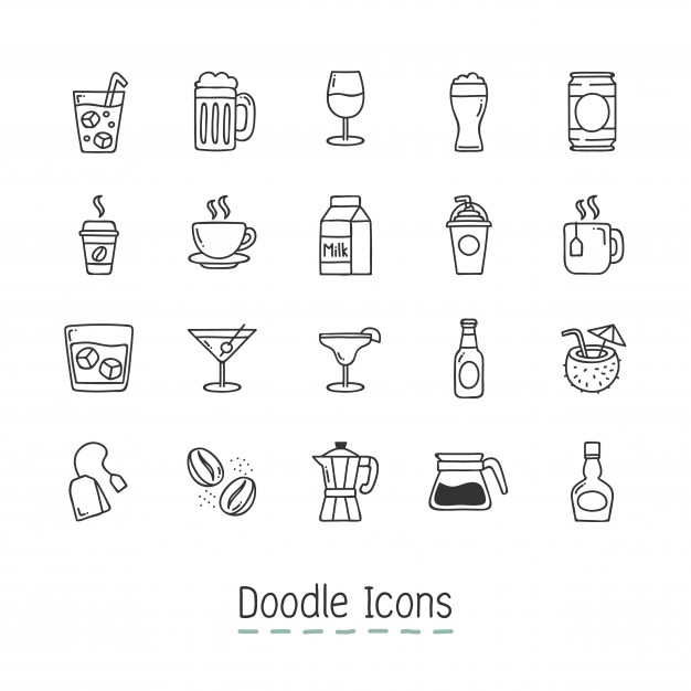 Doodle Drinks Icons
